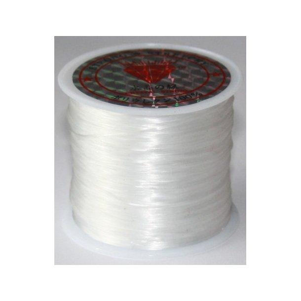 elastisk smykketråd 0,5mm, 60meter, klar