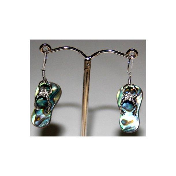 abelone sandaler ørering m/sterlingsølv krog