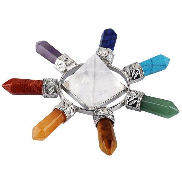Krystal kvarts pyramide energi generator, bjerg krystal