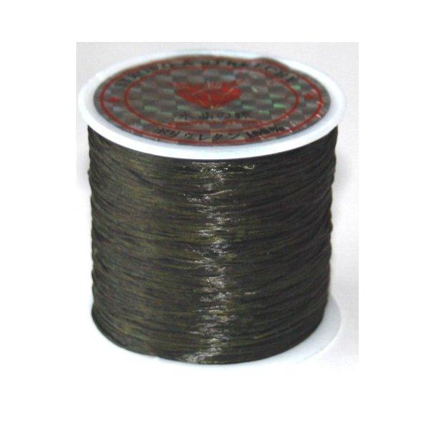 elastisk smykketråd 0,5mm, 60meter, sort