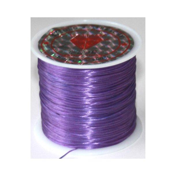 elastisk smykketråd 0,5mm, 60meter, lilla