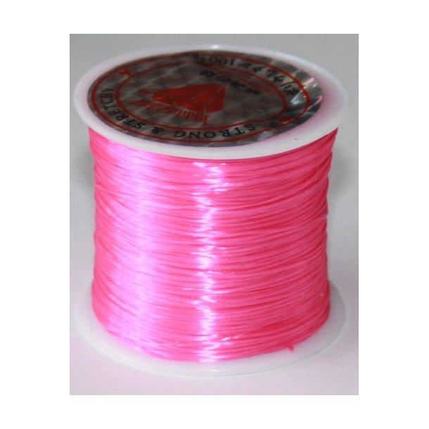 elastisk smykketråd 0,5mm, 60meter, pink