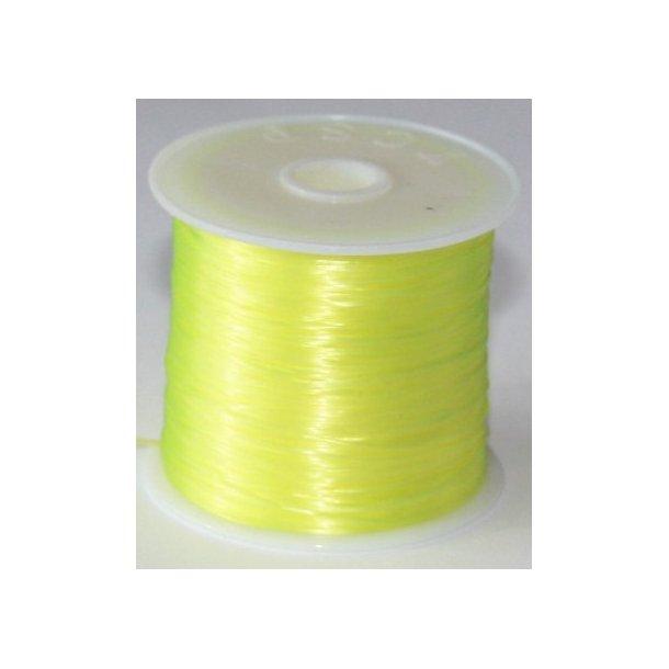elastisk smykketråd 0,5mm, 60meter, gul