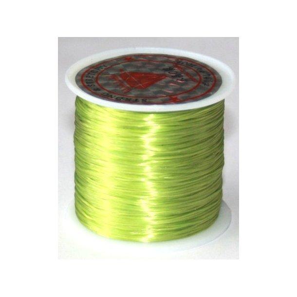 elastisk smykketråd 0,5mm, 60meter, lime