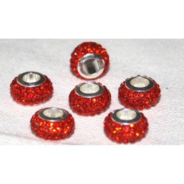 shamballa krystal perle med 5mm hul. fv. orange