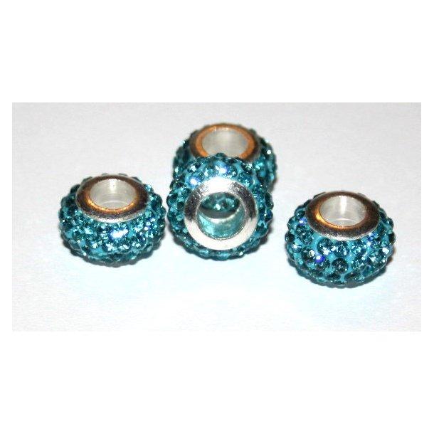 shamballa krystal perle med 5mm hul. fv. turkis