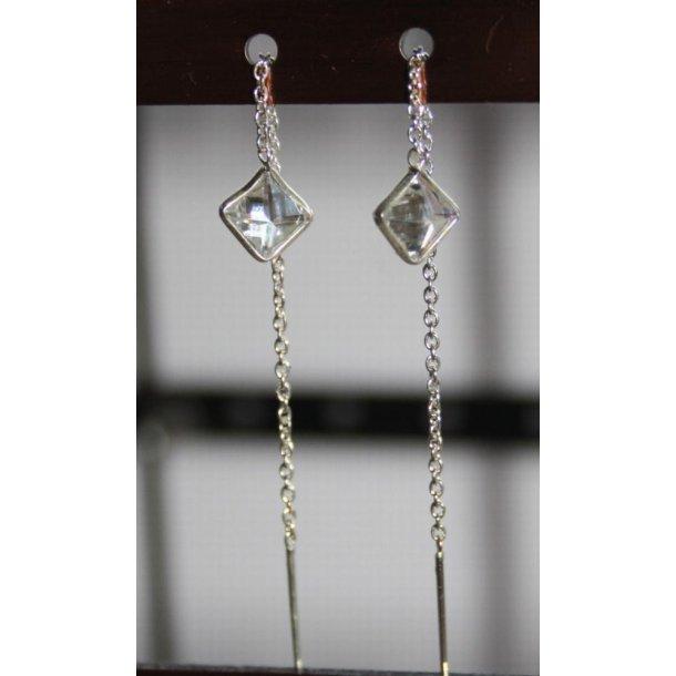 S925 sterling sølv kæde og swarovski øreringe-3