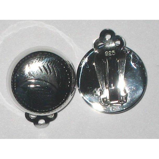S925 sterling sølv øreclips-1