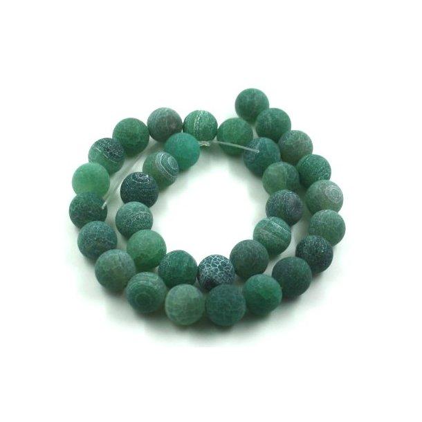 12mm krakeleret agat sten kæde, grøn