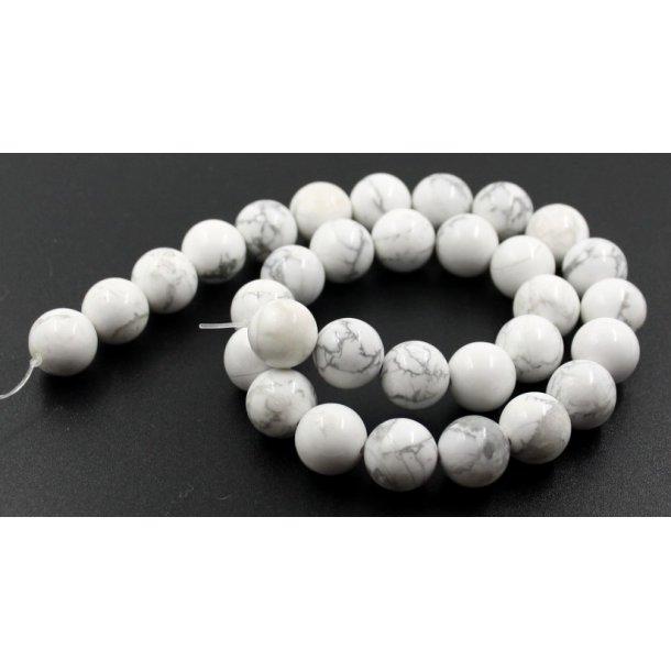 12mm hvide Turkis sten perle