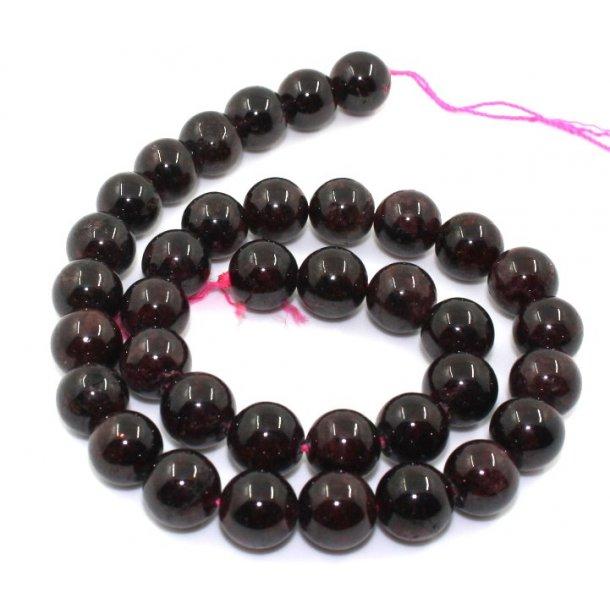 12mm granet/garnet sten perle kæde