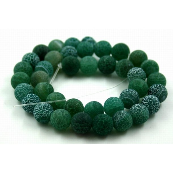 10mm krakeleret agat sten kæde, grøn