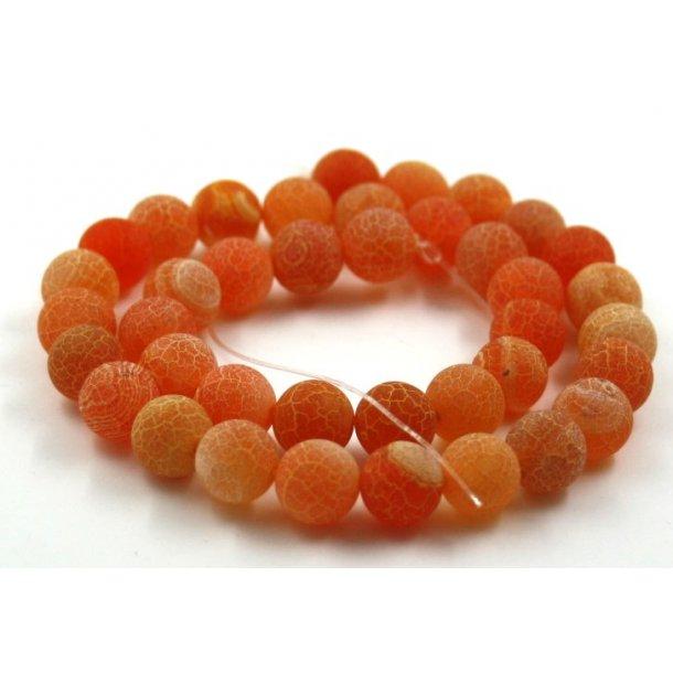 10mm krakeleret agat sten kæde, orange