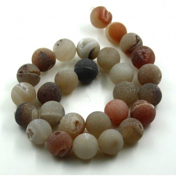 14mm natur agat med krystal perle