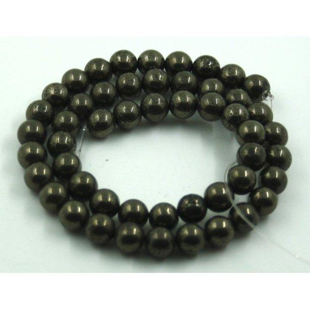 8mm pyrit sten perler,