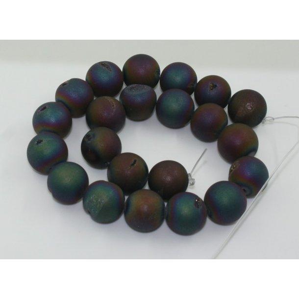 20mm agat med krystal perle, multi