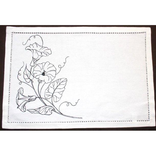 hulsømkant serviet, 30x45cm. 23-2743-18, creme fv.