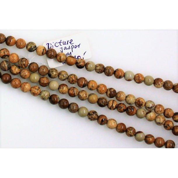 6mm picture jaspis sten perle