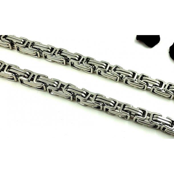 kirurgisk stål halskæde, stål fv. 60cm, 10mm tyk.