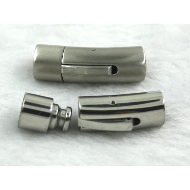 6-14, 6mm stål klik lås, mat og blank