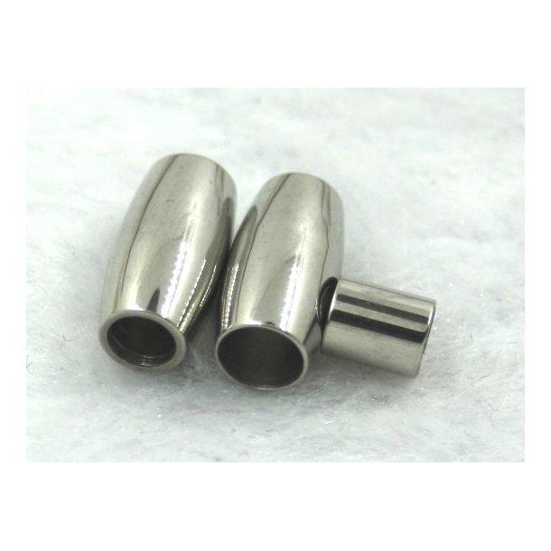 4-01, stål magnet lås til 4mm læder.