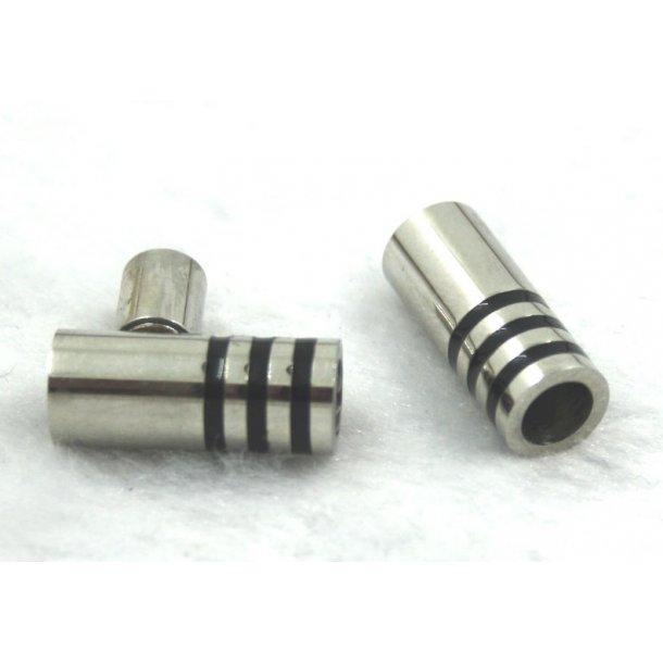 5-04, stål magnet lås til 5mm læder
