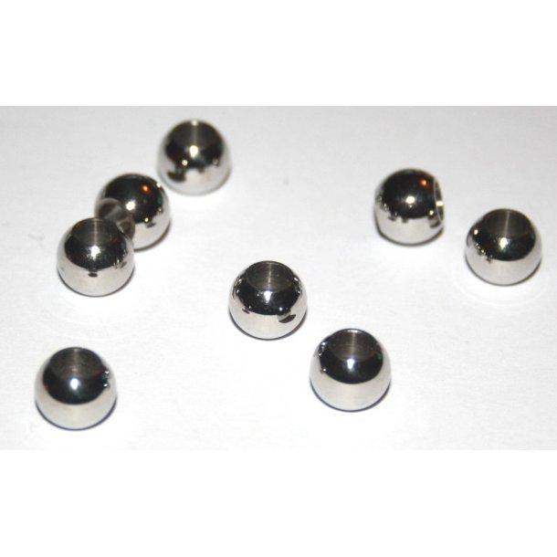 stål charms 4-001, 4mm hul. 5stk./pk.