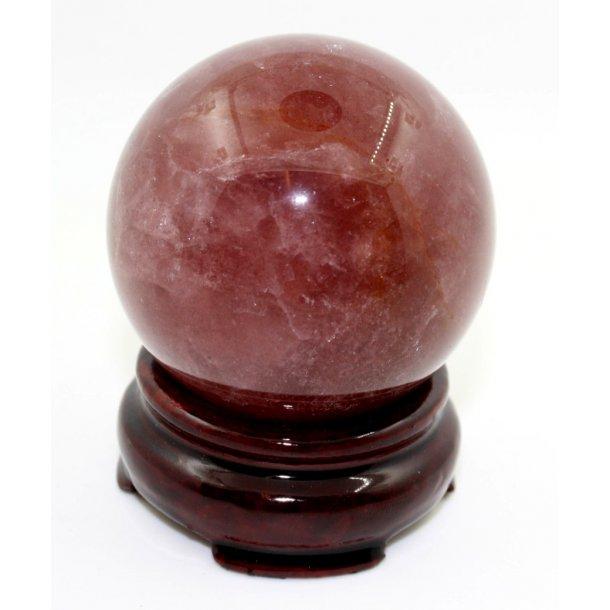Jordbær kvarts kugle-1